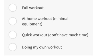 Gym Home Options